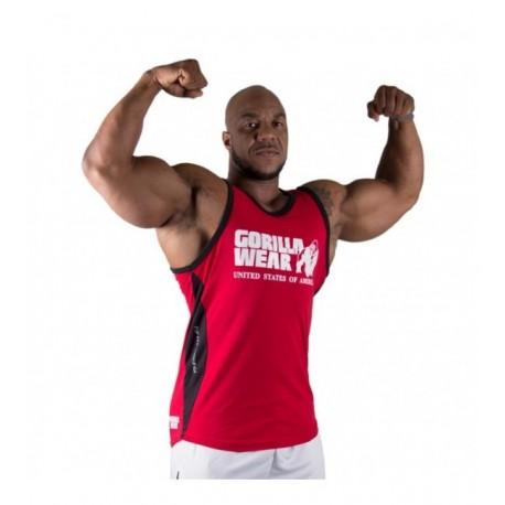 Stretch Tank Top Tango Red Gorilla Wear