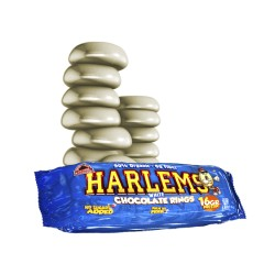 Harlems Chocolate Blanco Rings 1 unid x 110 gr Max Protein