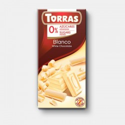 Tableta chocolate blanco 0% azúcar 75gr Torras