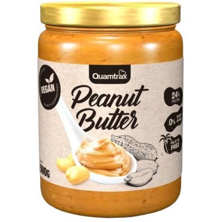 Peanut Cream - Crema de Cacahuete Vegana 500 gr Quamtrax