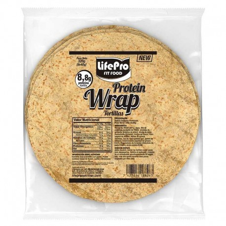 Fit Food Protein Wrap Tortillas Proteicas 8x40g Life Pro