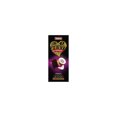 Tableta chocolate negro coco zero 125gr Torras