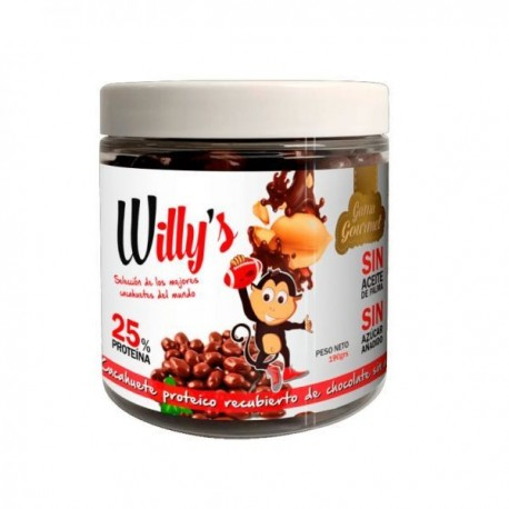 Willy cacahuete con chocolate 190gr Protella