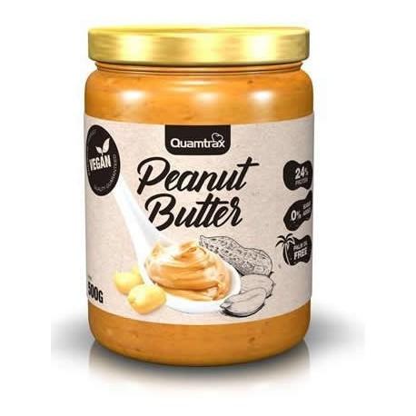 Crema de Cacahuete Crunchy 500 gr Quamtrax